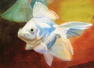 Tropical Fish Cards White Goldfish