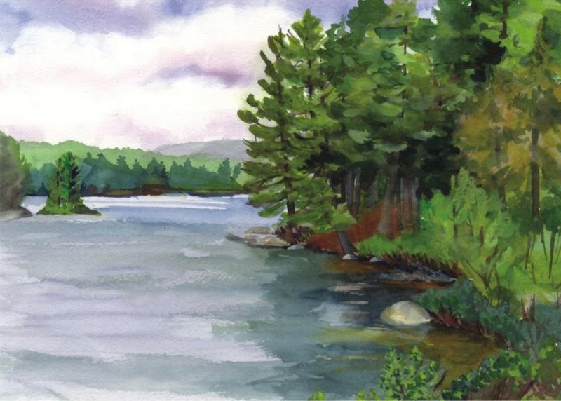 Adirondack Water Cards Tupper Lake