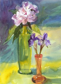 Blossoms Cards Vase Study