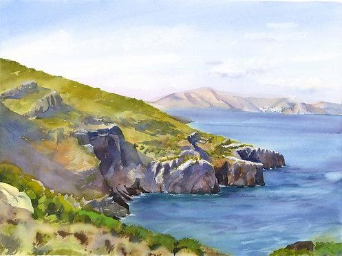 Original Painting | Greece | Kalymnos | Sykati Bay