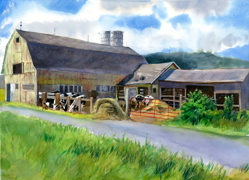Barns Cards Amslea Dairy
