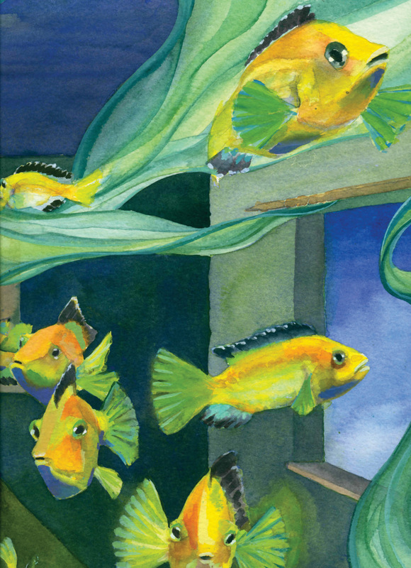 Tropical Fish Cards Silent Bobette Swimming
