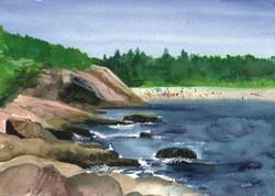 Acadia Cards Sand Beach
