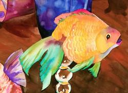 Tropical Fish Cards Orange Goldfish