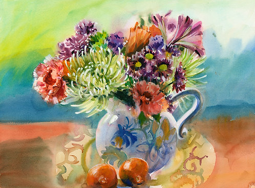 Original Painting | Flowers | Painting with Dan and Nancy