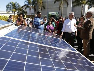 PLACAS DE ENERGIA SOLAR INSTALADAS PELOS ALUNOS ABASTECEM A FÁBRICA SOCIAL EM BRASÍLIA