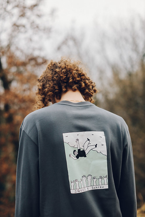 Crewneck Sweater - HEKY LEE X SCHRAV - Anthracite