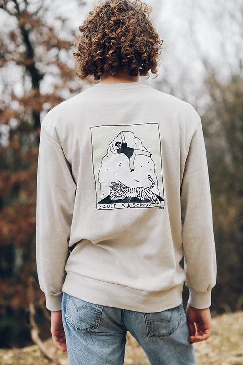 Crewneck Sweater - HEKY LEE X SCHRAV - Beige