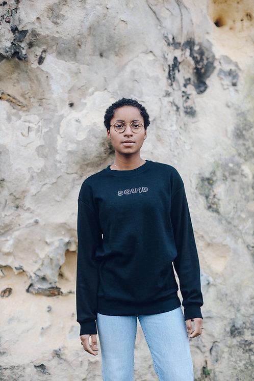 Crewneck Sweater - HEKY LEE X SCHRAV - Black
