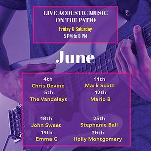 Kalypsos live music June 2021 ad instagr