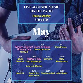Kalypsos live music May 2021 ad instagra