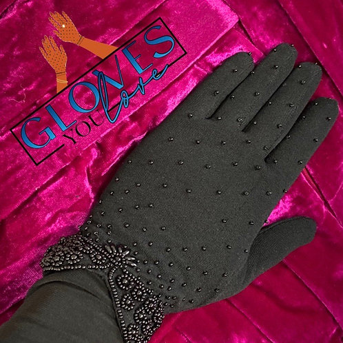 Vintage Beaded Gloves D