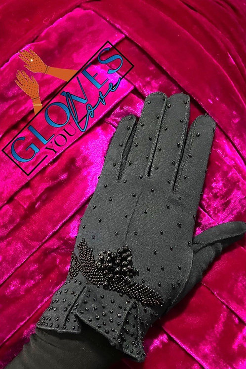 Vintage Beaded Gloves F