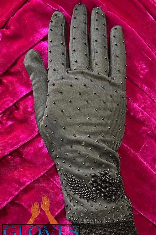 Vintage Beaded Gloves I