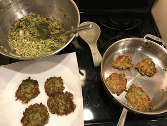 Gluten free latkes with cassava and kale