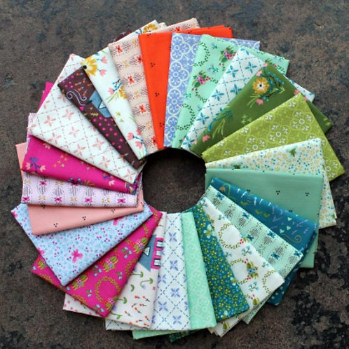 Snooze - Quilt Kit featuring Bungalow Fabric Collection designed by Amy Gibson f