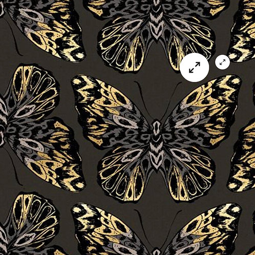 Clearance Fabric Tiger Fly RSS Mocha Canvas