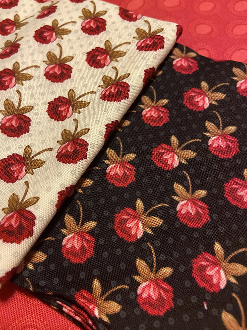 Midnight to Morning Roses  6 FQ Bundle procured by Fabric and Frills