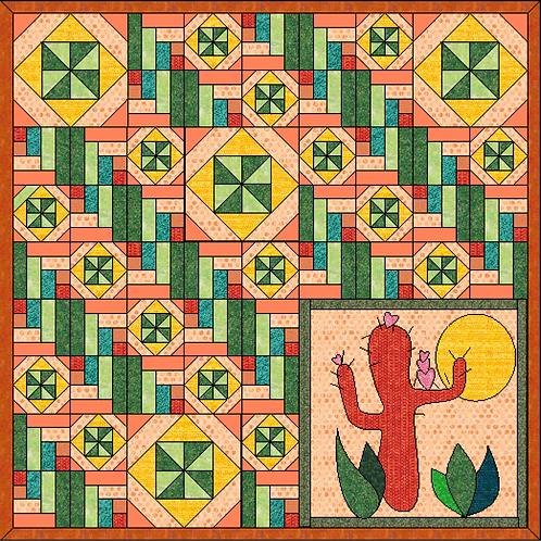 Sedona Smiles precut Quilt Kit - Fabric and Frills Exclusive