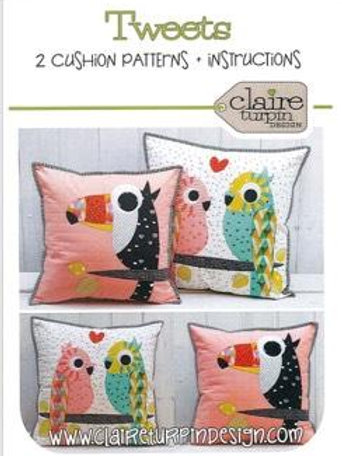 Tweets Applique Pattern and 2 Cushion Pattern by Claire Turpin Designs
