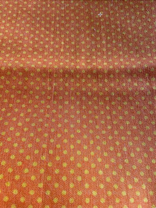 Clearance Fabric 3 Orange Polka Dots