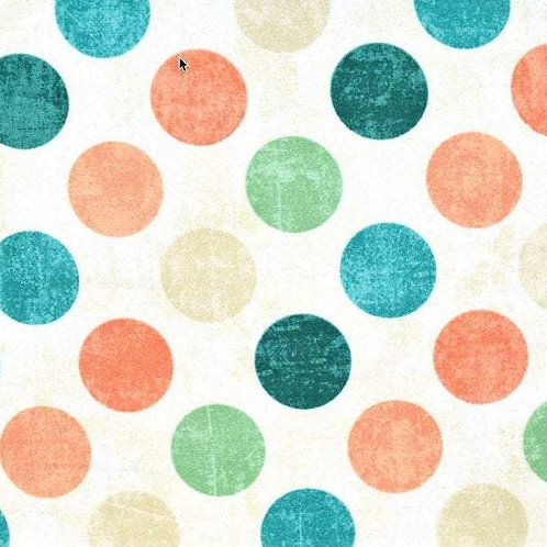 Spot On Agean Sea (Large Dots) 22606 - 115 by Canvas for Northcott