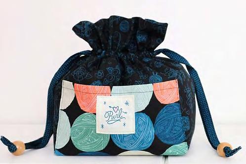 Purl Drawstring Purse by Sara Watts for Ruby Star Society