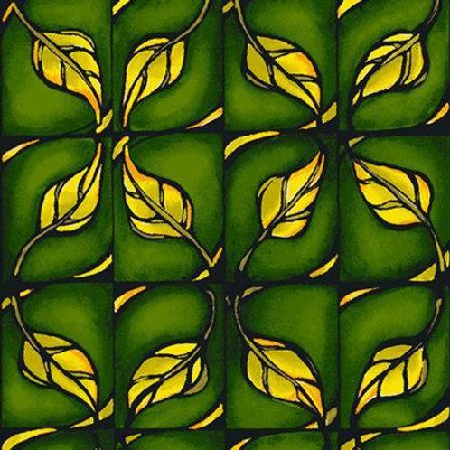 Follow the Sun Dark Olive Geometric Yardage