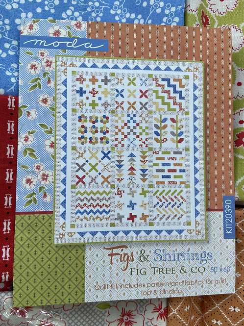 Figs and Shirtings Kit Stitchery by Fig Tree and Co for Moda