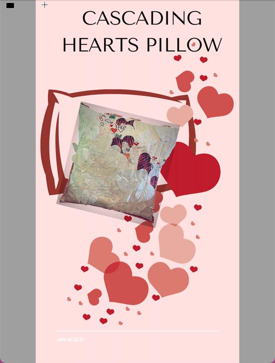 Cascading Hearts Pillow