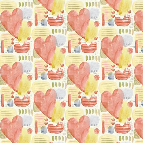 Blessings Hearts Multi by Jane Allison for Henry Glass