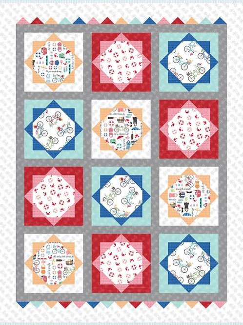 Vintage Boardwalk Collection Beach Blanket Quilt Kit by Kimberbell for Maywood S