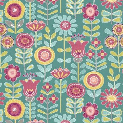 Choose to Shine - Sunshine Floral Teal