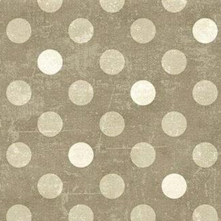 Spot On (Polka Dot) Tone on Tone Brown by Deborah Evans Canvas for Northcott