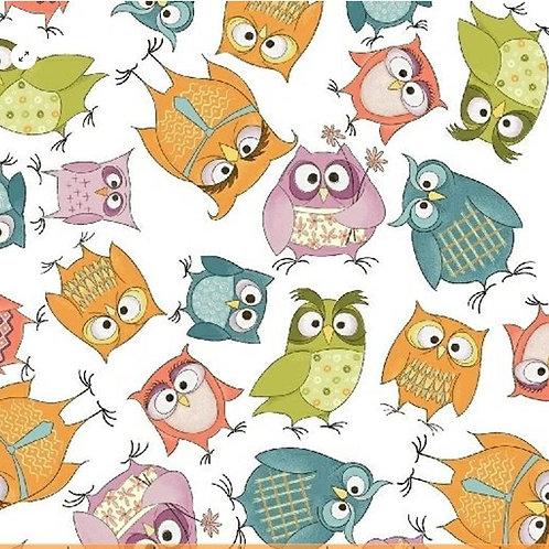 Whoo's Hoo - 7 Fat Quarter Bundle by Terri Degenkolb for Windham