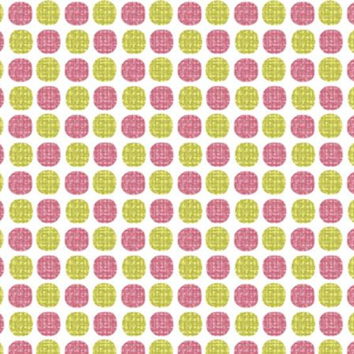 Choose to Shine-Wish Dot Raspberry and Lime Polka Dots by Cherry Blossoms Studio