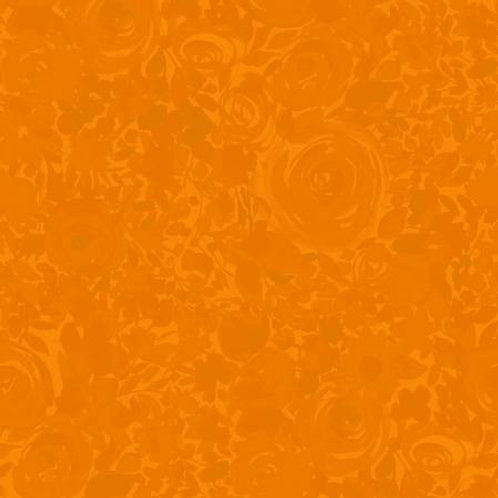 Zinnias In Bloom - Orange Floral Tonal brought to you by Clothworks