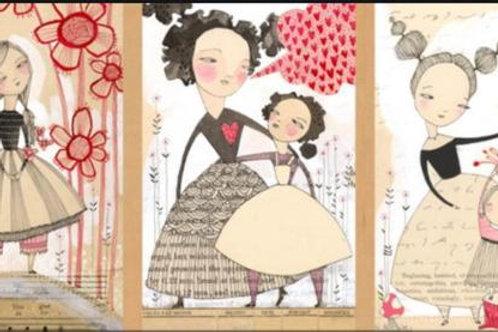 Love is Spoken Well Said Panel by Cori Dantini for Blend Fabrics