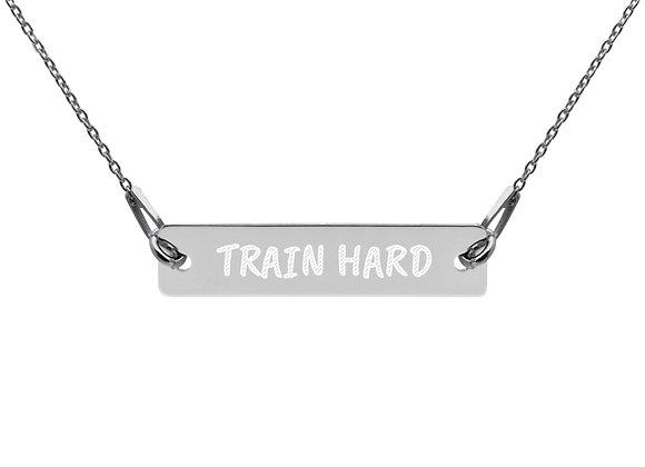 """""""TRAIN HARD"""" Bar Chain Necklace"""