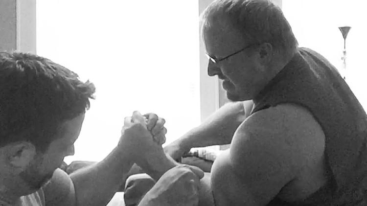 Arm wrestling practice