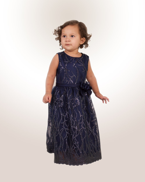 Midnight Blue Celebration Gown   Baby Bello Bella   Young Girl ...