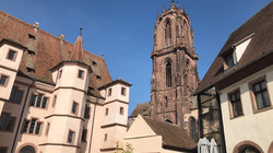 Vue de l'église saint Georges à Sélestat
