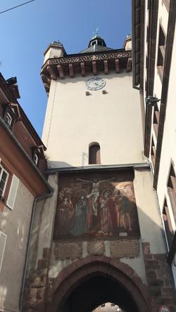 Détails de la tour de l'Horloge à Sélestat