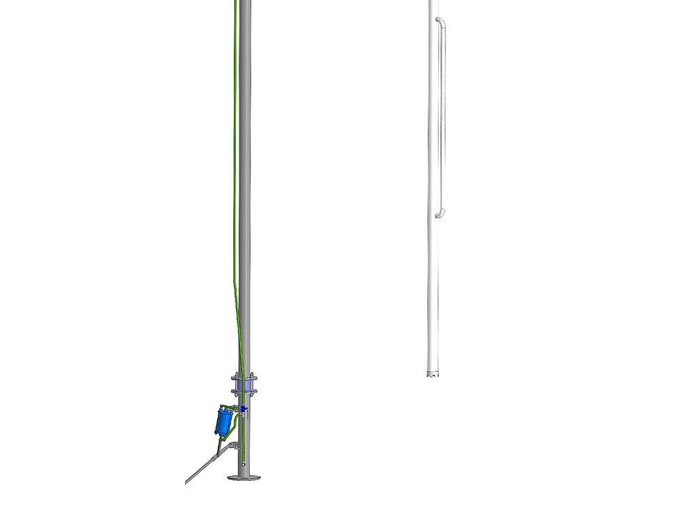 Установка переносная для верхнего слива из железнодорожных цистерн УПВС-80-П