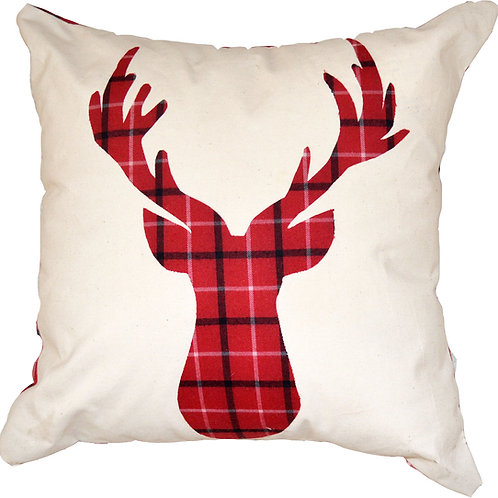 Christmas Flannel Reindeer Pillow 2