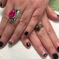 black gel manicure vegan salon swindon (