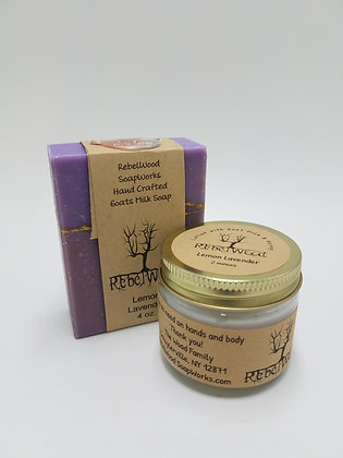 Lemon Lavender Scented Lotion with Goat Milk and Honey