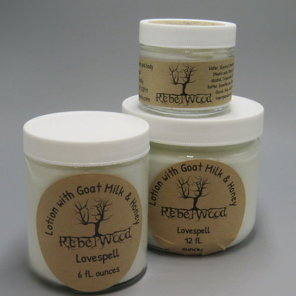 Lovespell Scented Lotion with Goat Milk and Honey