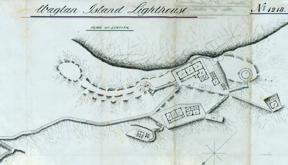 Plan of Station – Waglan Island Lighthouse by David Marr Henderson