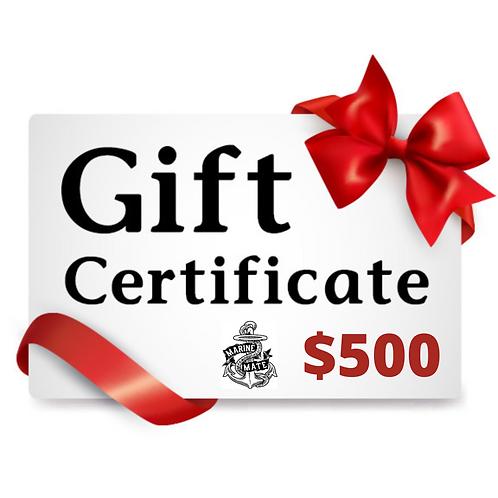 $500 Marine Mate Gift Certificate!